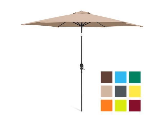 Best Choice Products 10ft Steel Market Outdoor Patio Umbrella W/ Crank, Tilt  Push Button