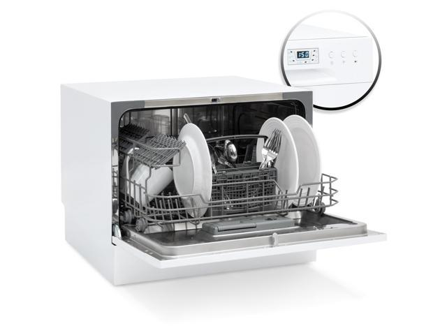 Best Choice Products Small Spaces Kitchen Countertop Portable Dishwasher w/ 6 Wash Cycles and Pres</div alt=
