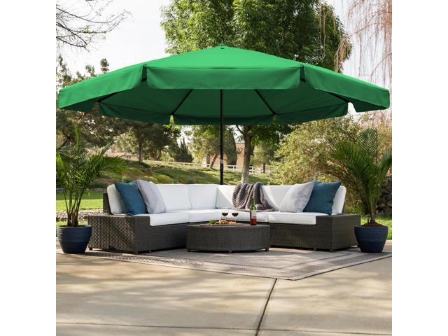 Best Choice Products 16ft Outdoor Patio Drape Canopy Market Umbrella W Cross Base Crank