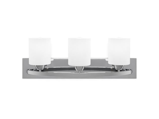 New 3 Light Bathroom Vanity Lighting Fixture Chrome: Best Choice Products 3-Light Vanity Wall Sconce Lighting