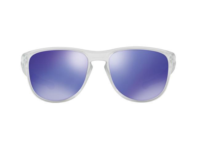 9f40d8bc5a4 Oakley Sliver Round Men s Sunglasses (Matte Clear Violet Iridium ...