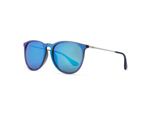 a866d04994 Ray-Ban Erika Color Mix Sunglasses (Blue and Silver Blue Mirror ...