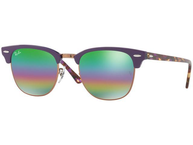 Ray-Ban Clubmaster Mineral Flash Lenses Sunglasses 51 mm Violet Frame