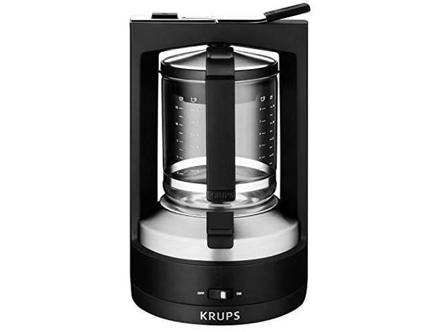 Krups Km468950 Moka Brewer Filter Coffee Maker 10 Cup Black