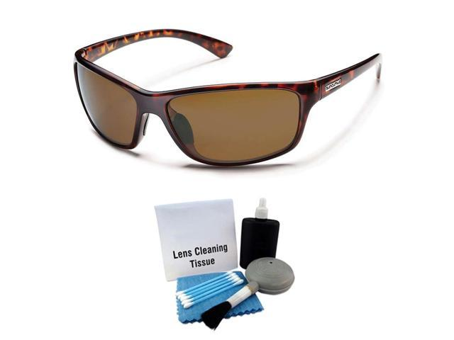 e34f3c257720 Suncloud Sentry Polarized Sunglass: Tortoise /Brown Polycarbonate +  Cleaning Kit