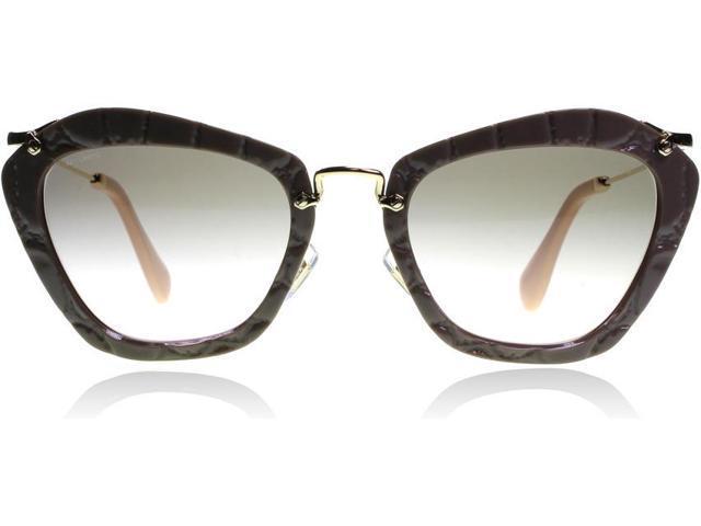 26acb16481d Miu Miu MU10NS 55mm Cat Eye Sunglasses (Beige   Black ...