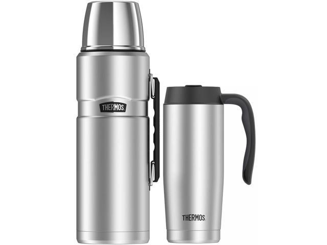 Beverage 68 Oz W King Insulated Bottle 16 Thermos Travel Mug Stainless dCoerxWB