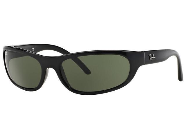 7b7fb0f8e9e Ray-Ban RB4033 Polarized Sunglasses (Matte Black Polarized Green Classic G- 15