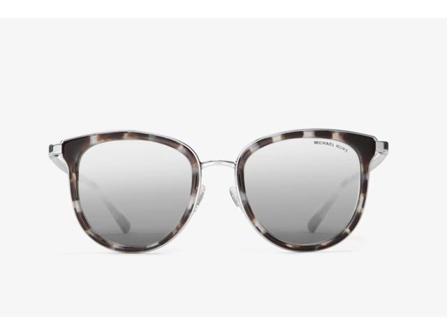 a593cb6d679d0 Michael Kors Adrianna Sunglasses (Snow Leopard Silver Silver Mirror ...