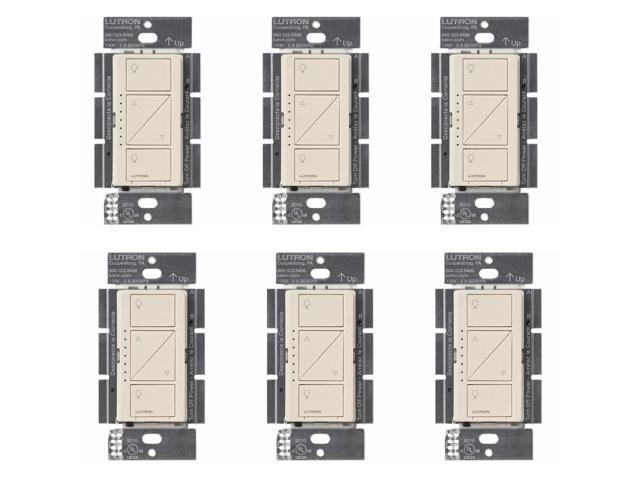 Lutron Caseta Wireless Smart Lighting Dimmer Switch (6-pack) (Light Almond)  - Newegg com