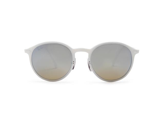 efc81f5169f7 Ray-Ban Round Light Ray Sunglasses (White/Gunmetal Gray/Silver Gradient  Flash