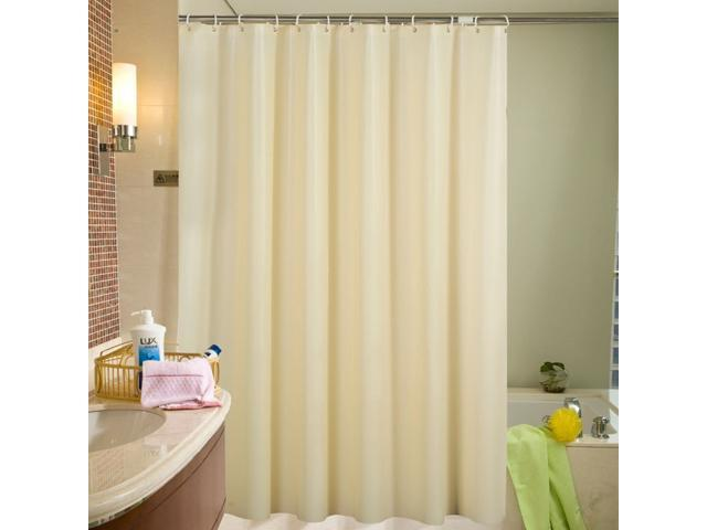 Mildew Resistant Anti Bacterial Shower Curtain Liner With Hooks PEVA Safe And