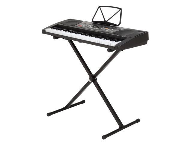 Homegear 61 Key Electronic Piano Keyboard With Stand Usb