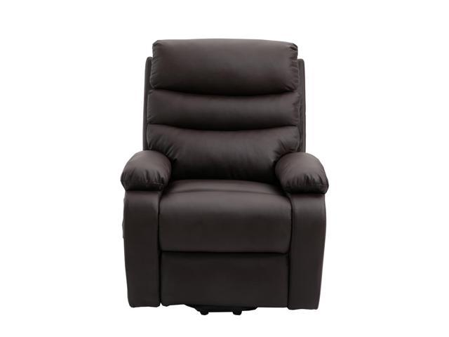 Prime Homegear Pu Leather Power Lift Electric Recliner Chair With Massage Heat And Vibration With Remote Brown Newegg Com Ncnpc Chair Design For Home Ncnpcorg