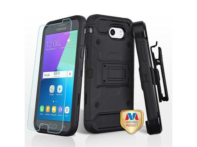 the latest 9f69a c3b2e For Samsung Galaxy Express Prime 2/J3 Black 3-in-1 Protector Case w/Holster  - Newegg.com