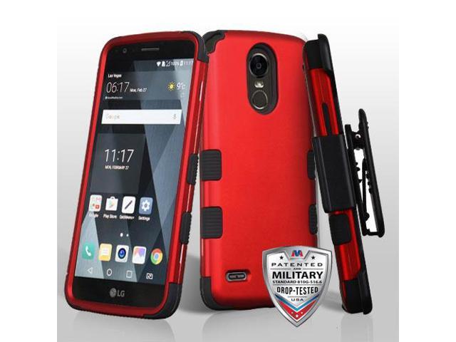 For LG Stylo 3/Plus Titanium Red/Black TUFF Hybrid Phone Protector Cover  Case - Newegg com
