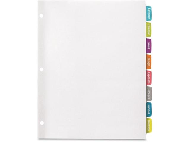 Avery 14440 Big Tab Large White Label Tab Dividers 5 Tab Letter