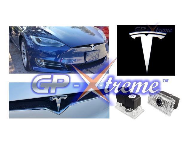 GP Tesla Model S Model X Model 3 No Drilling Changeable Ghost Logo Door  Courtesy Welcome Light Laser Embled Logo Kit Ghost Shadow Lights logo chips