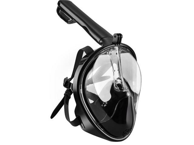Seaview 180° GoPro Compatible Snorkel Mask - Panoramic Full Face Design with Anti-Fog