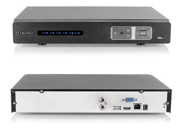 Amcrest NV1104 1080p 2-channel / 720p 4-Channel Network Video Recorder NVR  (Black) - Newegg com