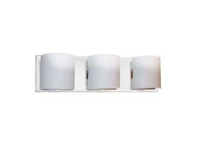 New 3 Light Bathroom Vanity Lighting Fixture Chrome: Dainolite 3 Light Vanity Fixture, Polished Chrome, Frosted