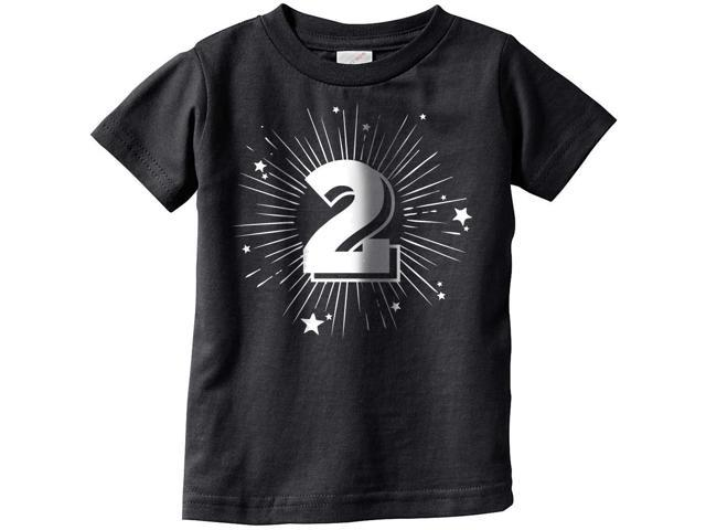 Toddler 2 Years Old Birthday Party Tshirt For Baby Age Celebration Tee 2T