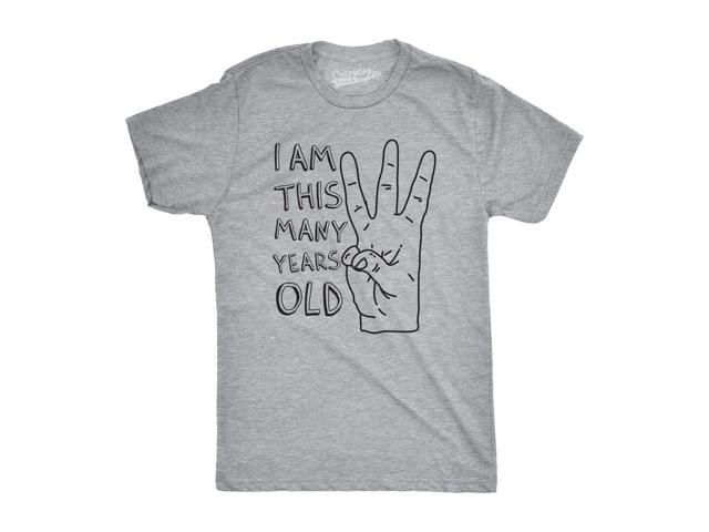 Youth I Am This Many Years Old Funny Hand 3 Year Kids Birthday T Shirt