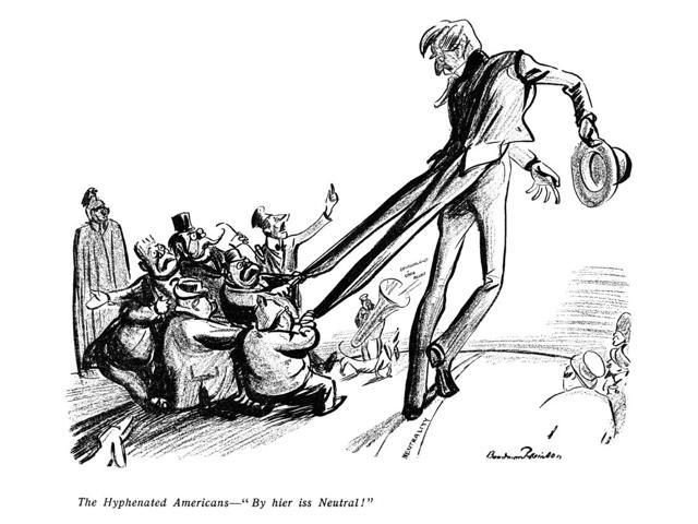 World War I Cartoon 1915 Nthe Hyphenated Americans