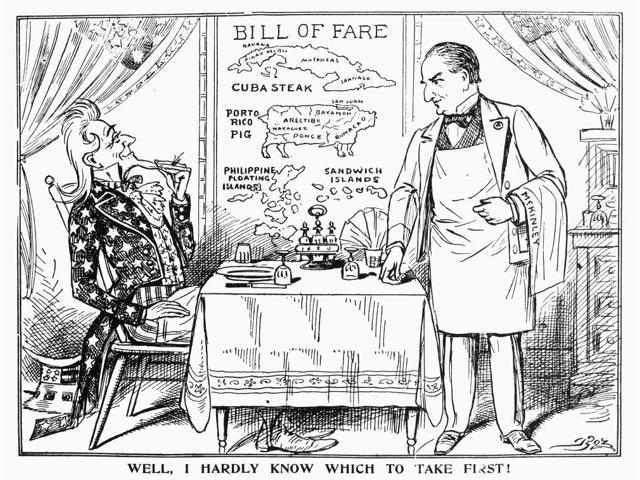 Imperialism Cartoon C1900 Nwell I Hardly Know Which To Take First