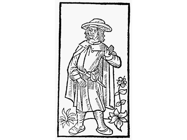 Francois Villon 1431 1463 Nfrench Poet Woodcut Portrait From The