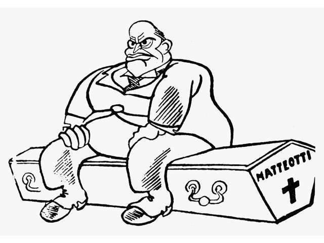 Benito Mussolini Cartoon Nitalian Dictator Benito Mussolini Sitting