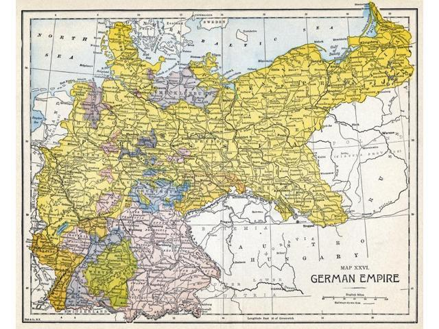 Map Of Germany Before Unification.Map Of Germany Nfollowing Its Unification In 1871 Poster Print By 18