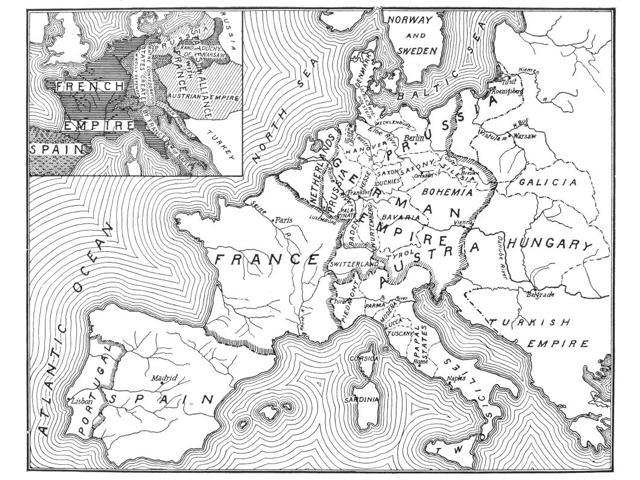 Map Of Europe 1812-1815 Nan American Map Of 1905 Comparing The Political  Landscape Of Europe Before And After The 1815 Congress Of Vienna Poster  Print ...