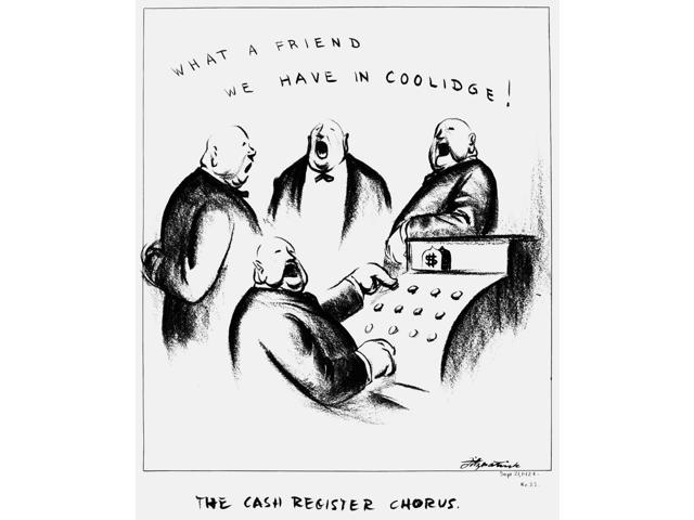 Coolidge Cash Register Nthe Cash Register Chorus American Cartoon By