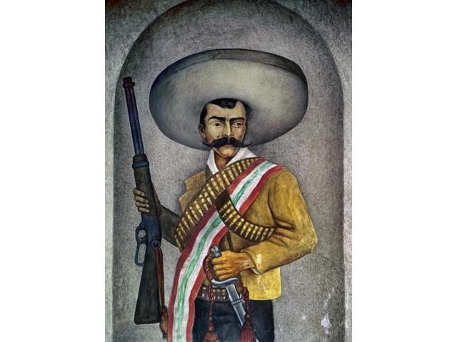 Portrait Of A Zapatista Npainting By An Unknown Mexican Artist 20Th Century  Poster Print by (18 x 24) - Newegg com