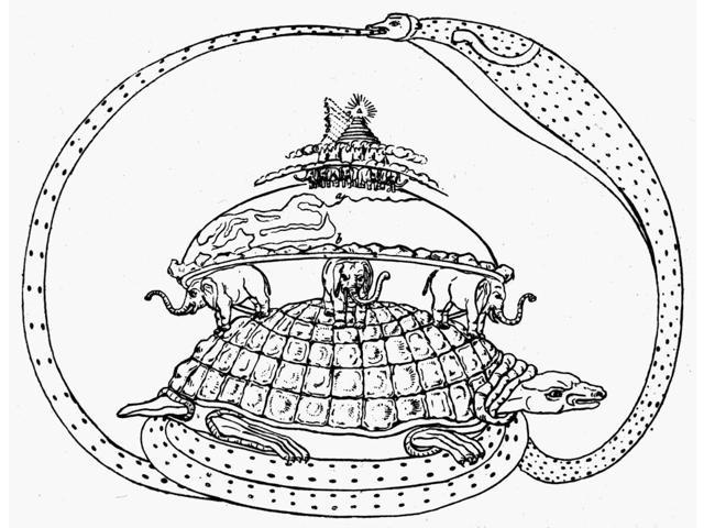 Hindu Universe Nhindu Cosmogram Depicting The Tortoise Akupara