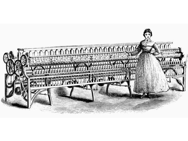 Mill Girl C1845 Na Massachusetts Mill Girl Beside A Fales And Jenks ...