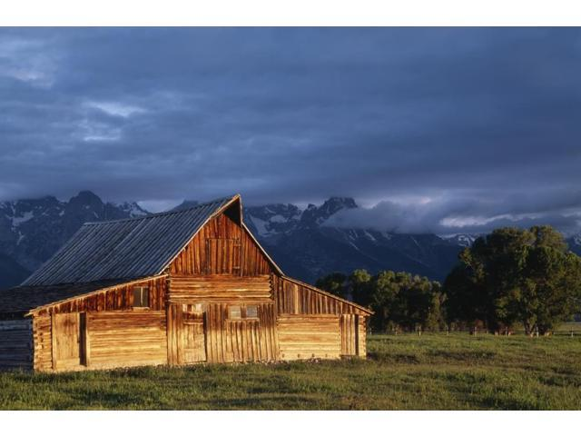 Sunrise On Old Wooden Barn On Farm Moulton Barn Poster Print (19 x 12) -  Newegg com