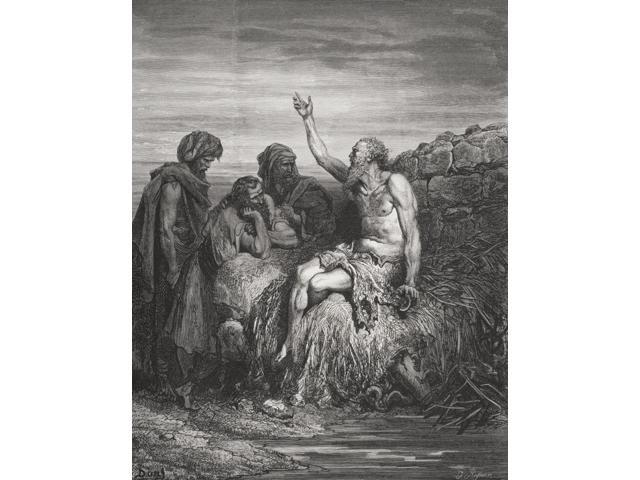 Engraving From The The Dore Bible Illustrating Job Vi 1 To 4 Job And