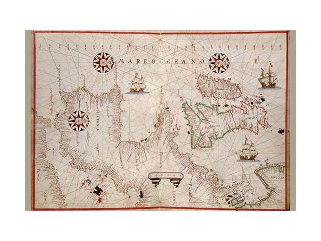 Map Of England Poster.Portolan Map Of Spain England Ireland France Poster Print By Joan Oliva 18 X 24 Newegg Com