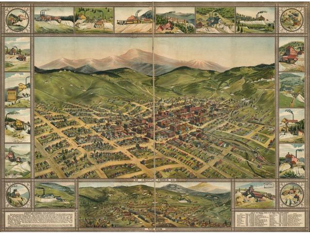Cripple Creek Colorado 1896 Poster Print (18 x 24) - Newegg com