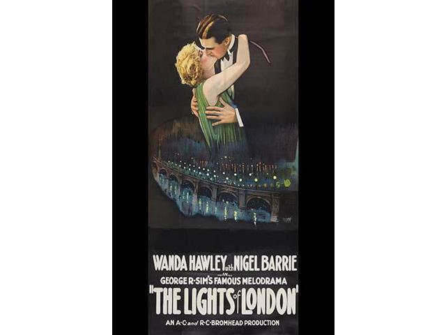 Man And Woman Kiss Over A London Bridge At Night Poster Print 18 X 24 - Neweggcom-8928