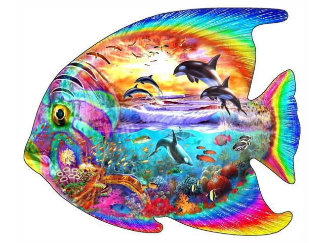 Fish Puzzle 1 Poster Print By Adrian Chesterman (12 X 6
