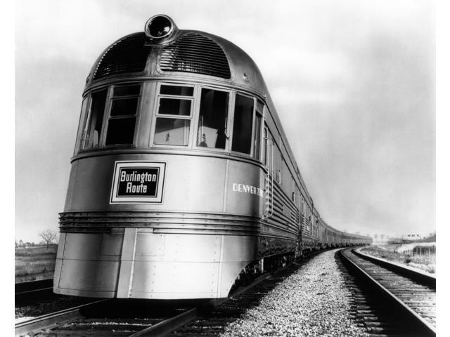 1930s-1940s Engine Head On Of Burlington Route Railroad Streamliner Denver  Zephyr Chicago To Denver Usa Print By Vintage - Newegg com