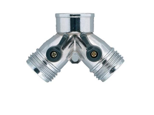 Orbit Metal Garden Hose Y For Hose Faucet Shut Off   Water Hoses Splitter,