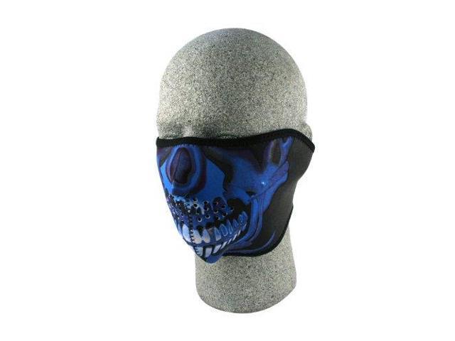 786ba100bb9 Zanheadgear Neoprene Half Skull Face Mask (Blue Chrome ...