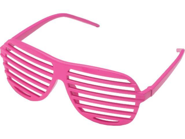 a50a097b7e72 Pink 80 s Shutter Shade Toy Novelty Sunglasses Party Favors Costume  Accessory
