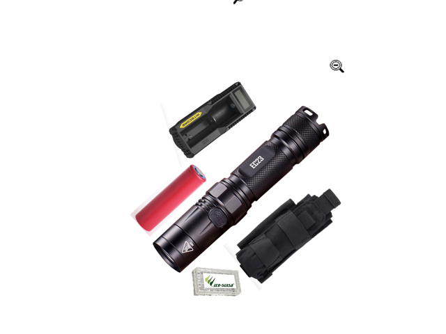 1x 18650 Battery and UM10 Digital Charger NITECORE EC23 1800 Lumens Flashlight