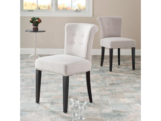 Fine Bordeaux Beige Linen Nailhead Dining Chairs Set Of 2 Newegg Com Bralicious Painted Fabric Chair Ideas Braliciousco