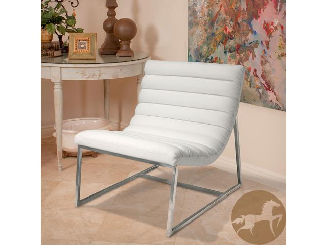 Beau Christopher Knight Home Parisian White Leather Sofa Chair